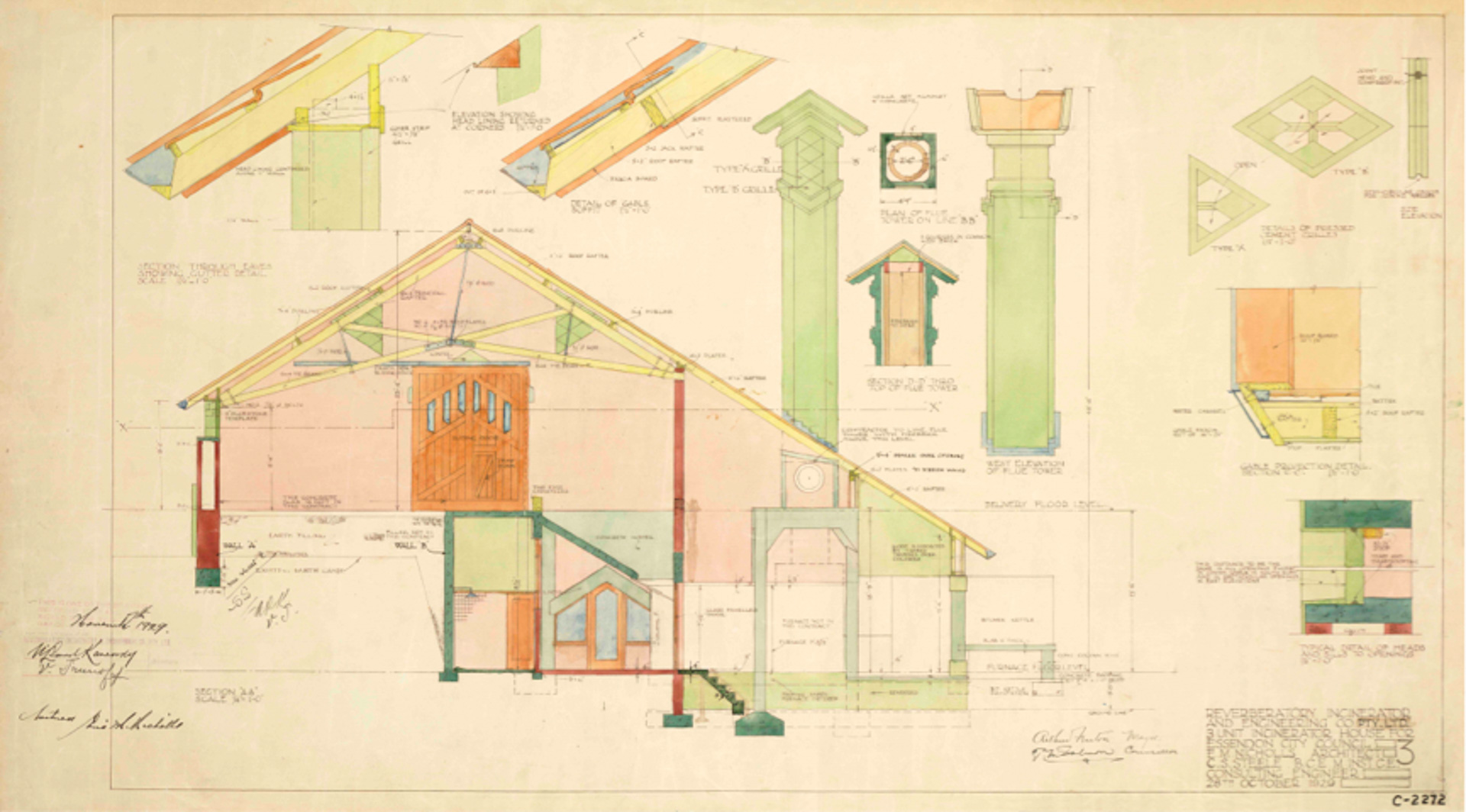 Architectural Drawings Boadle Hall