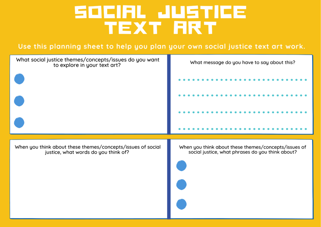 SJA Text Planning Sheet Page 1