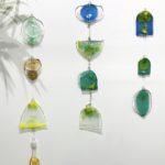Bethany Wheeler Fused glass wall hangings