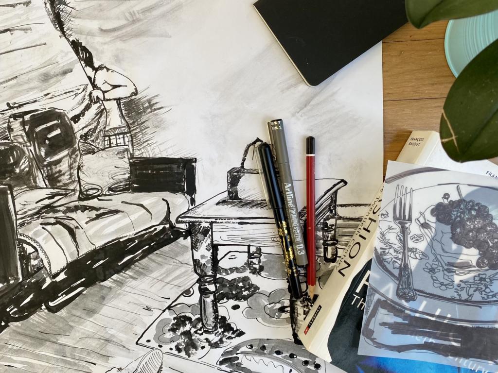 Miranda Simms - Ink Drawing
